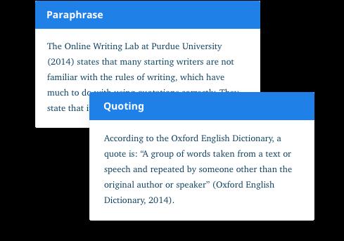 resolve plagiarism paraphrase quote